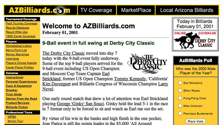 AZBilliards.com 2001