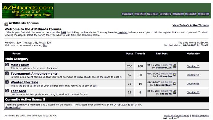AZBilliards.com 2003