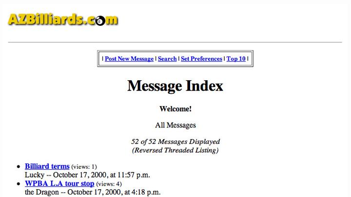 AZBilliards.com 2000