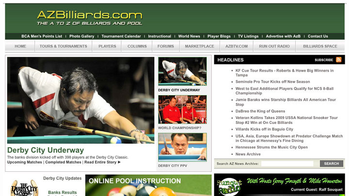 AZBilliards.com 2008